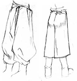 how to draw pants wrinkles